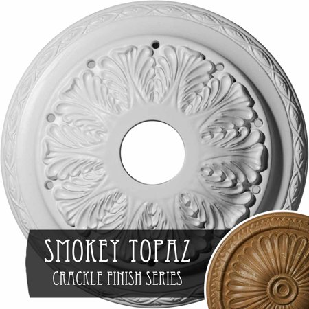 11 3 4 OD x 3 8 P Stockport Ceiling Medallion Hand Painted Silver