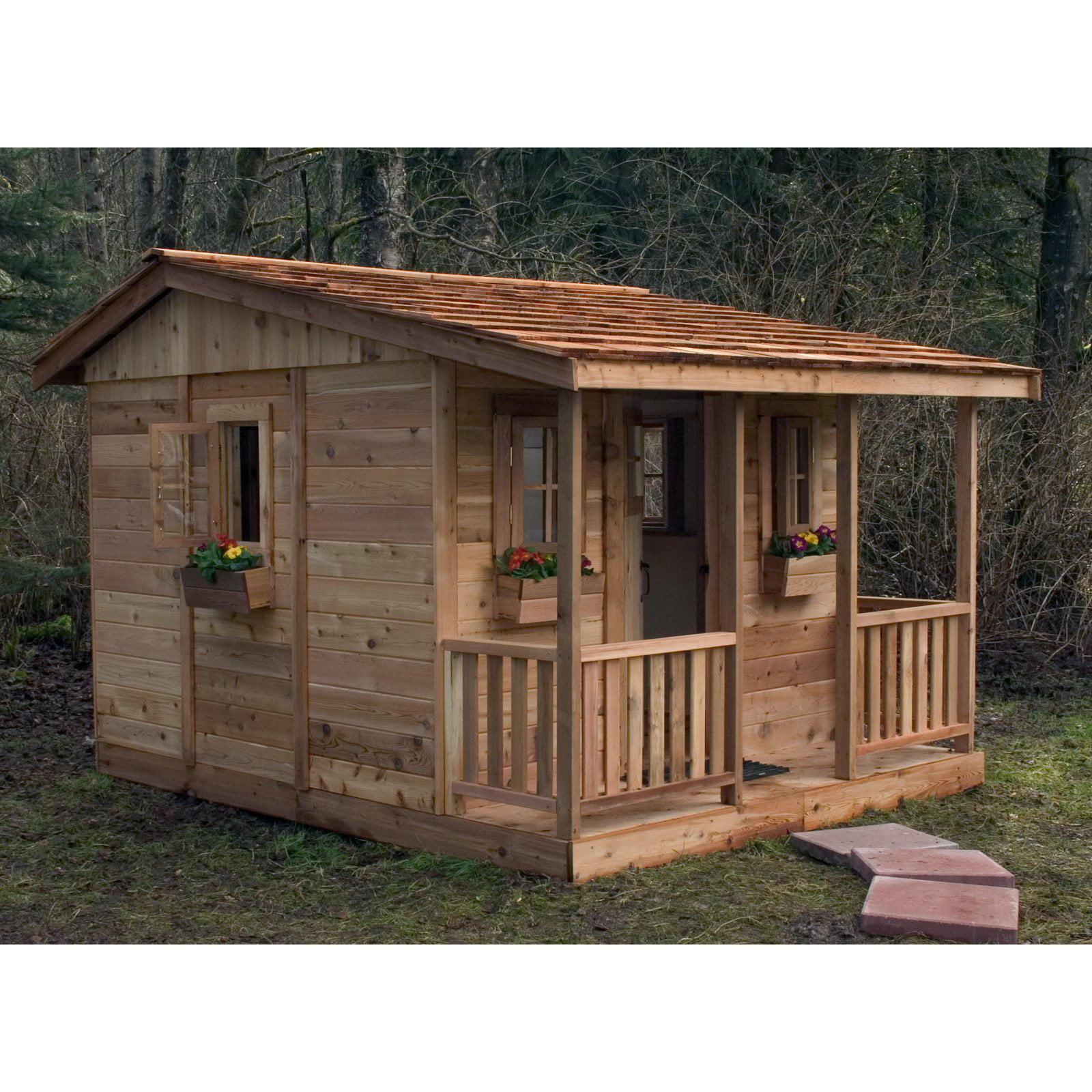 Cozy Cabin Cedar Playhouse by Outdoor Living Today