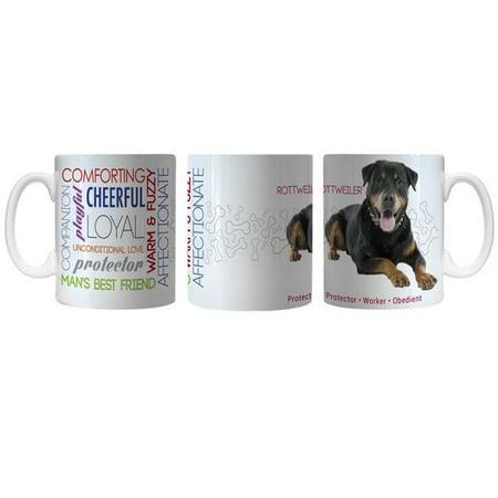 Caseys 8886003757 Tasse de caf- pour animaux de compagnie Rottweiler, 11 oz - image 1 de 1