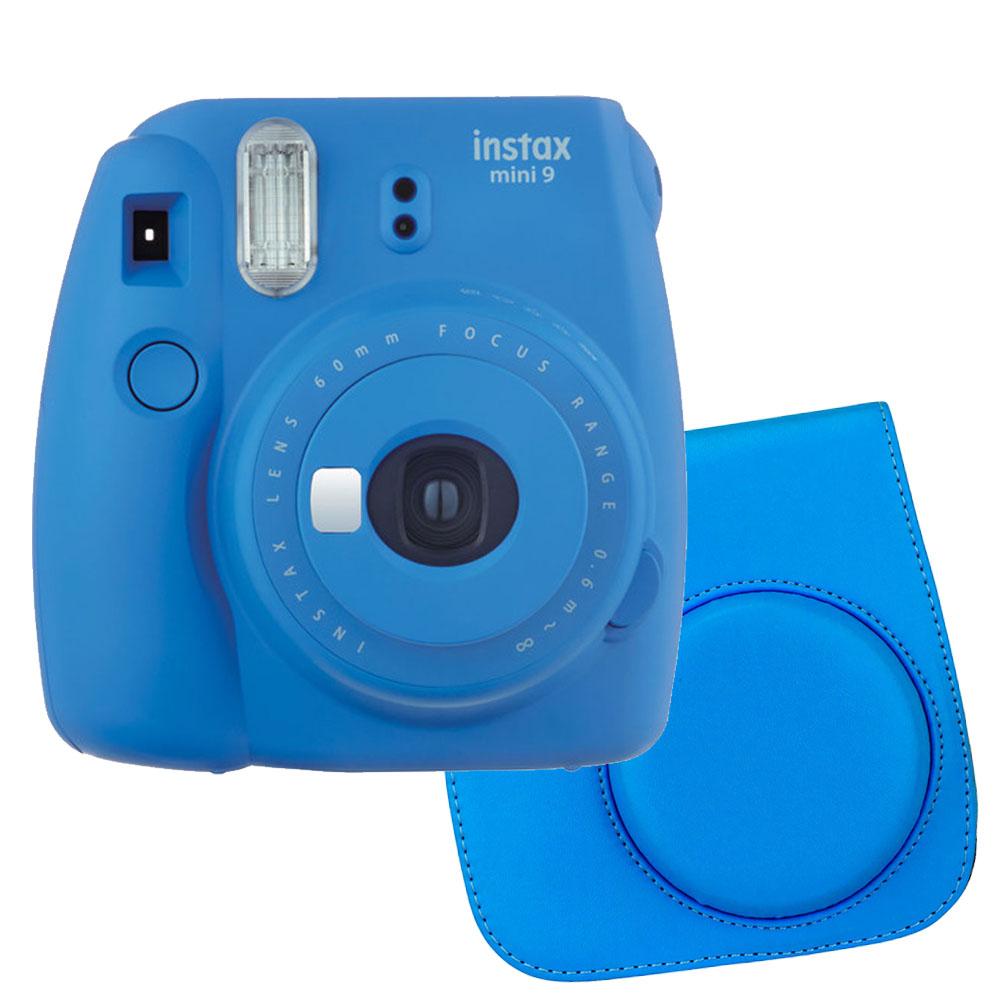 Great Buy! Basic Bundle – Fujifilm Instax Mini 9 Camera – Cobalt Blue + Button Close High Quality Blue Case – camera/accessories