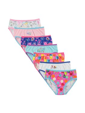 Trolls: World Tour Poppy, Girls Underwear, 7 Pack Panties Sizes 4-8
