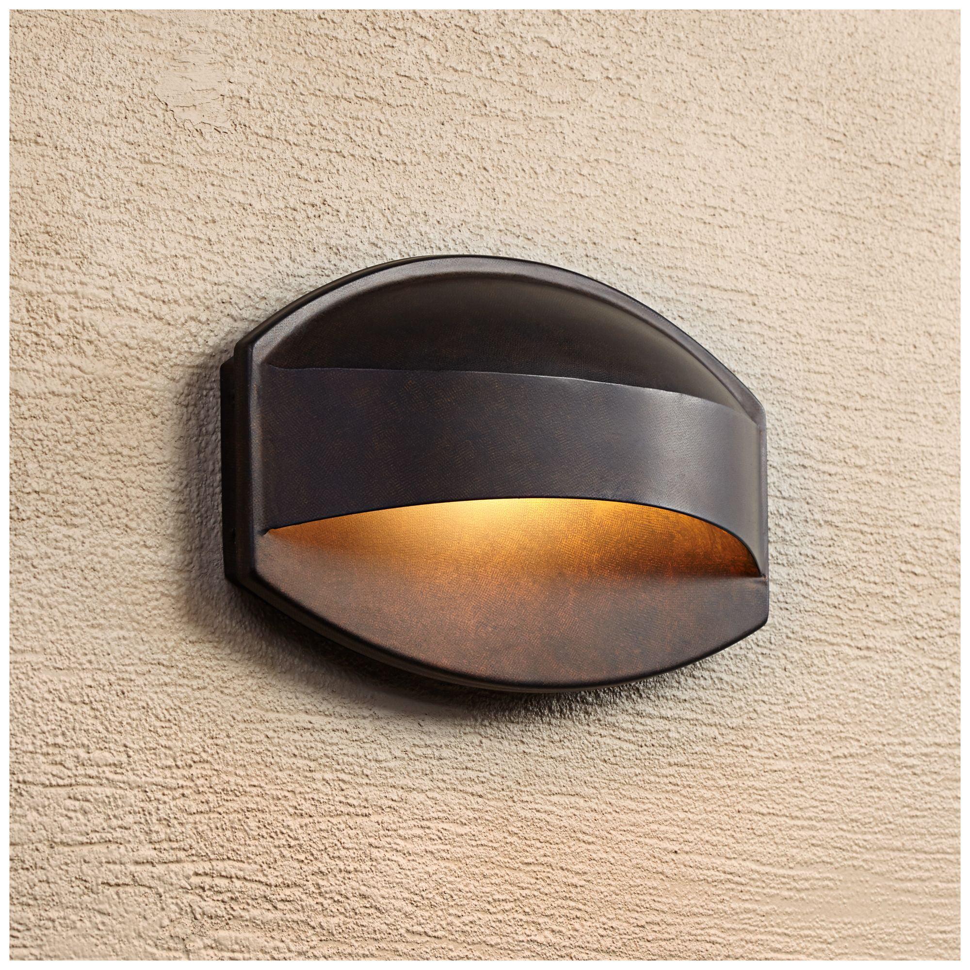 """Possini Euro Design Possini Euro Xane 11"""" Wide Bronze Dark Sky Wall Light"""