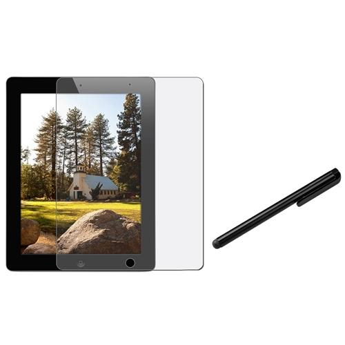 Insten 3 Anti-Glare LCD Film for New iPad 4 4G Retina 3 3rd 2nd Gen+Black Stylus