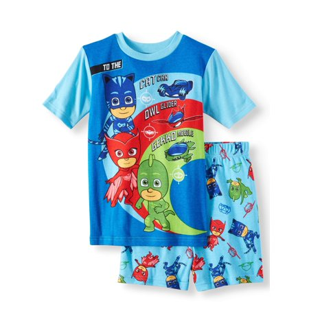 Boys' PJ Masks Cotton 2 Piece Pajama Sleep Set (Little Boy & Big - Skeleton Pyjamas Boys
