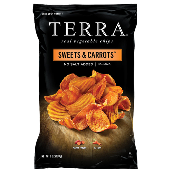 Terra Sweets & Carrots No Salt Added Real Vegetable Chips...