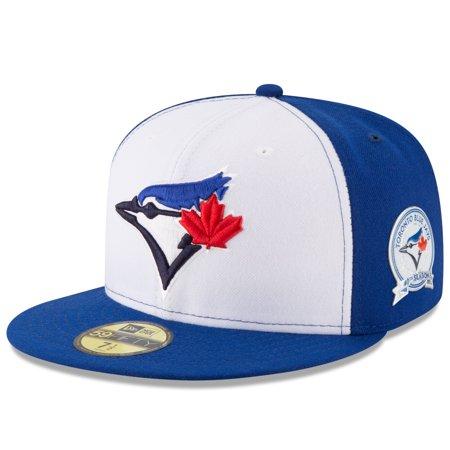low priced 6ed35 656e7 New Era - Toronto Blue Jays New Era 40th Anniversary 59FIFTY Fitted Hat -  White Blue - Walmart.com