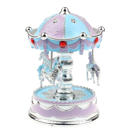 Smart Novelty Merry-Go-Round Music Box Christmas Birthday Gift Carousel Music Box BU