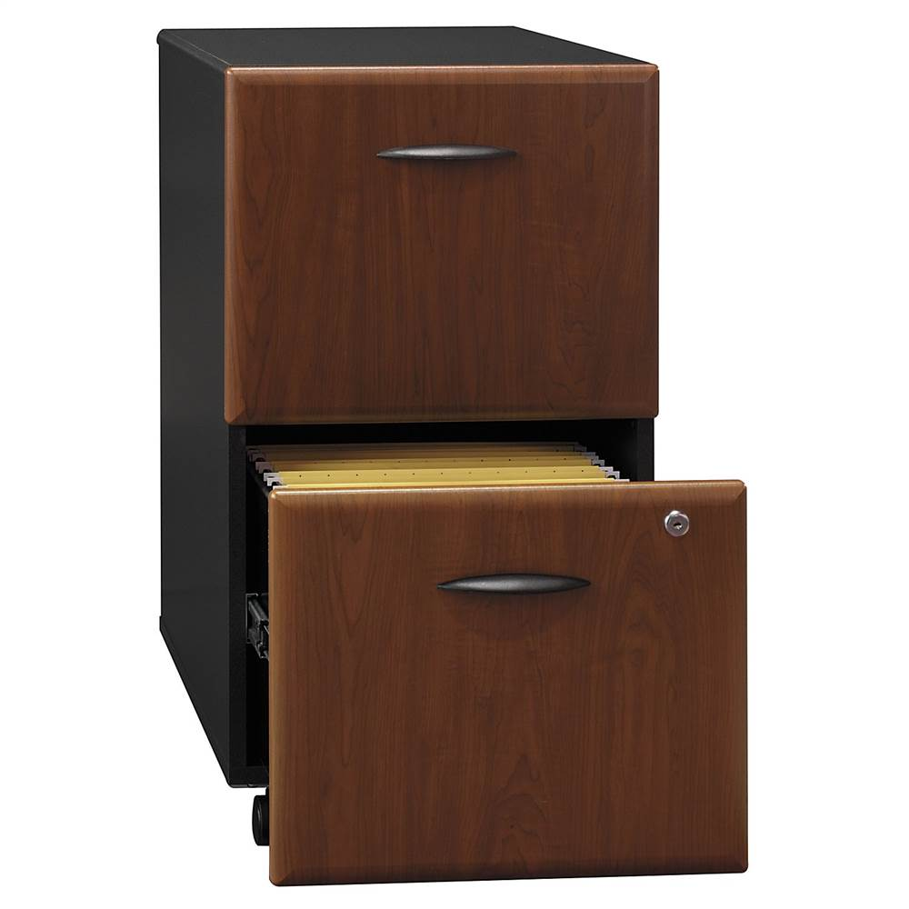 Two Drawer Filing Cabinet in Cherry Stained - Series A