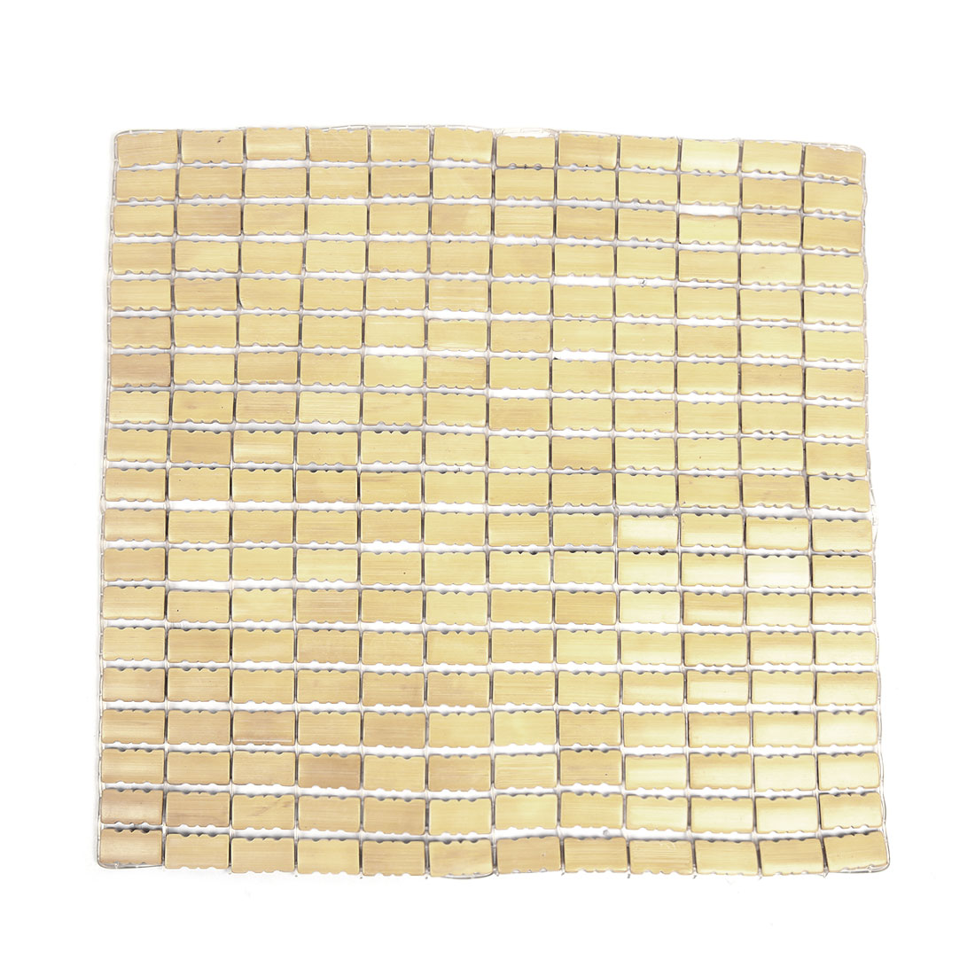Beige Wooden Multi Beads 43cm x 43cm  Cushion Cover Pad for Car Vehicle