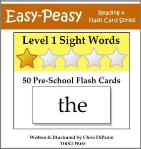 Level 1 Sight Words: 50 Pre-School Flash Cards - eBook