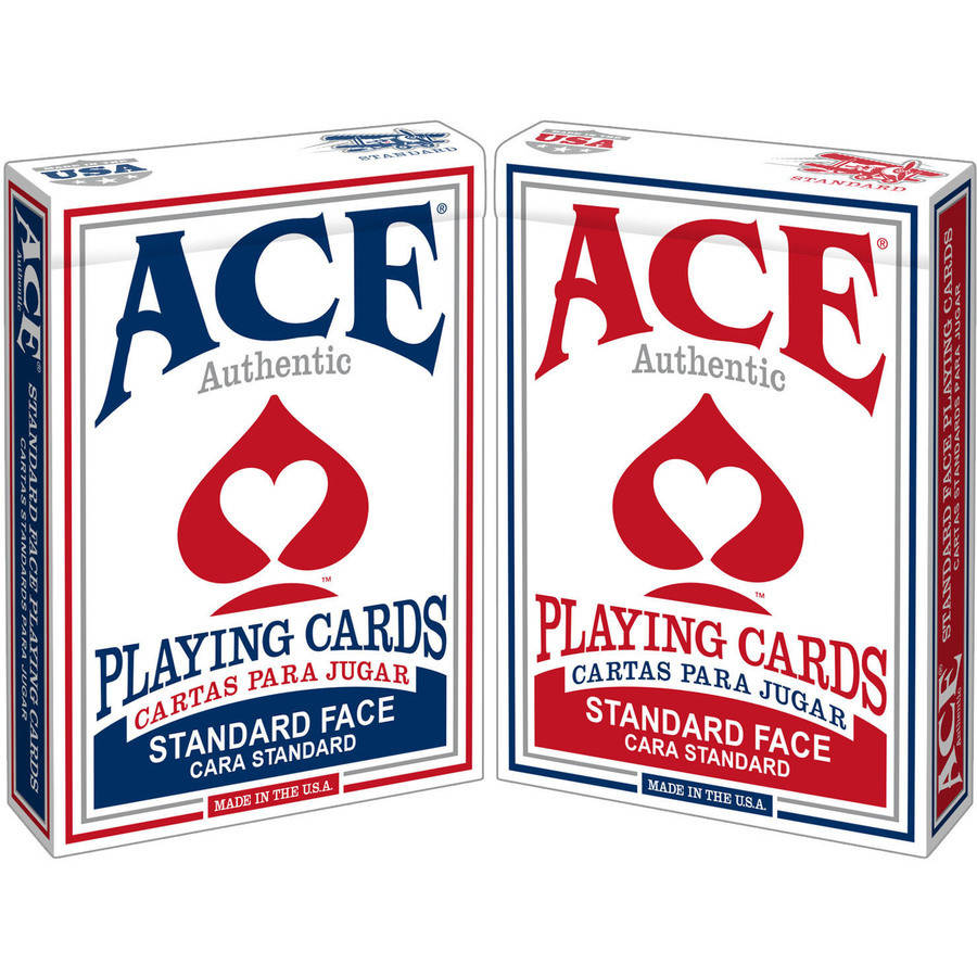 Ace Poker Playing Cards, Assorted Colors
