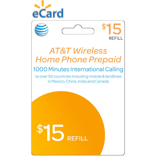 AT&T Mobility Prepaid Wireless Home Phone $15 (Email Delivery)