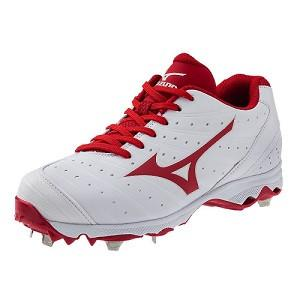 Mizuno 9-Spike Advanced Sweep 2 Fastpitch Cleat - White/R...