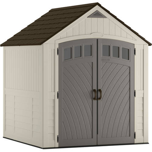 Suncast 322 cu. ft. 7x7 Covington® Resin Storage Shed, Vanilla, BMS7725