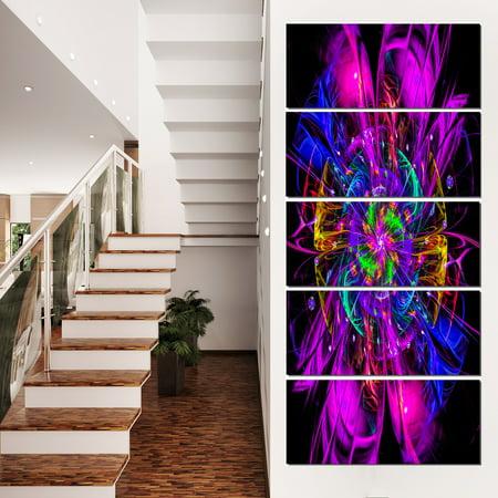 Ideal Fractal Flower Digital Art in Purple - Floral Canvas Art Print - image 3 of 3