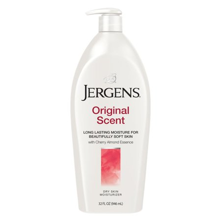 Jergens Original Scent Dry Skin Lotion with Cherry Almond Essence 32 FL (Best Body Lotion With Spf In India)