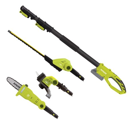 Sun Joe GTS4002C Cordless Lawn Care System | Hedge Trimmer · Pole Saw · Grass Trimmer