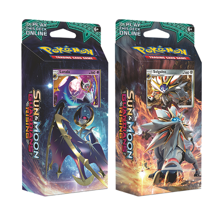 Pokemon Sun & Moon Guardians Rising Set of Both Theme Decks: Steel Sun & Hidden Moon (Buy Box) (Buy Pokemon Cards)