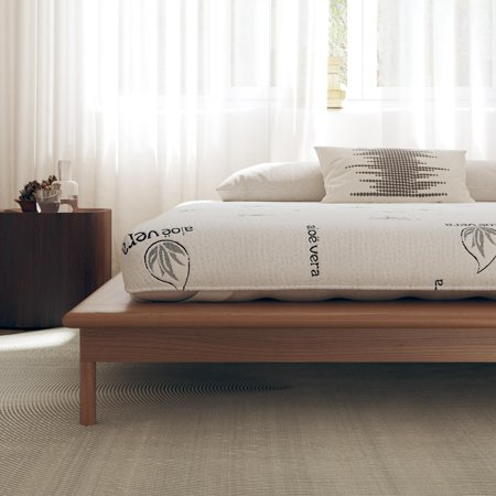 "Signature Sleep Honest Elements 7"" Natural Wool Mattress with Organic Cotton and Micro Coils (Queen Mattress Organic)"