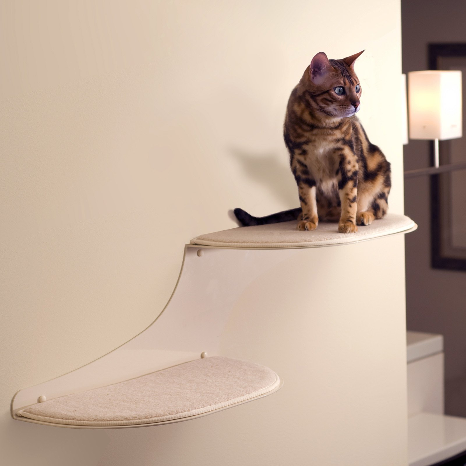 Refined Feline Cat Cloud Cat Shelf - Off White