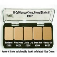 HD High-Definition Glamour Creme Palette, Neutral #1 by Graftobian