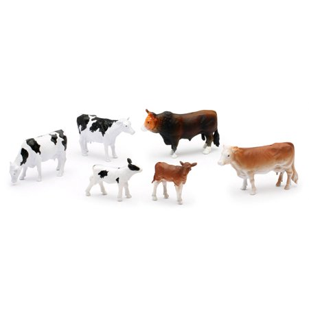 Country Life Farm Animal Set, Cows, Calves, and Bull