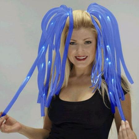Blue LED Noodle Headband Flashing Dreads