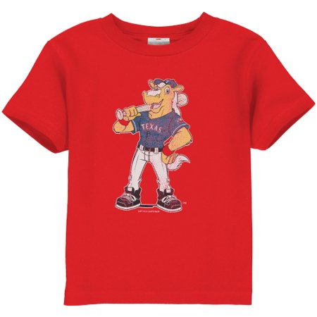 Texas Rangers Toddler Distressed Mascot T-Shirt - Red](Mascot Uniforms For Sale)