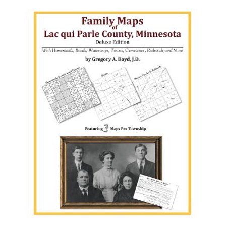 Family Maps of Lac Qui Parle County, Minnesota ()