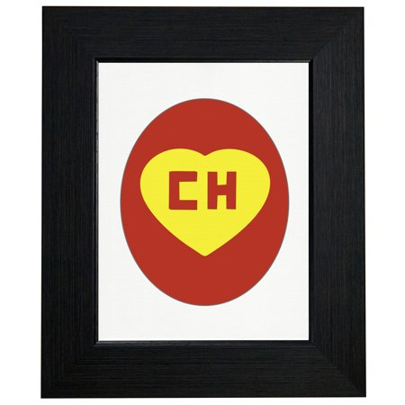 Iconic El Chapulin Colorado CH Red Yellow Framed Print Poster Wall or Desk Mount - Chapulin Colorado Costume