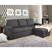 Devon & Claire Emilia Grey Contemporary Fabric Upholstered Sofa ...