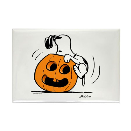 CafePress - Snoopy Jack O' Lantern - Rectangle Magnet, 2