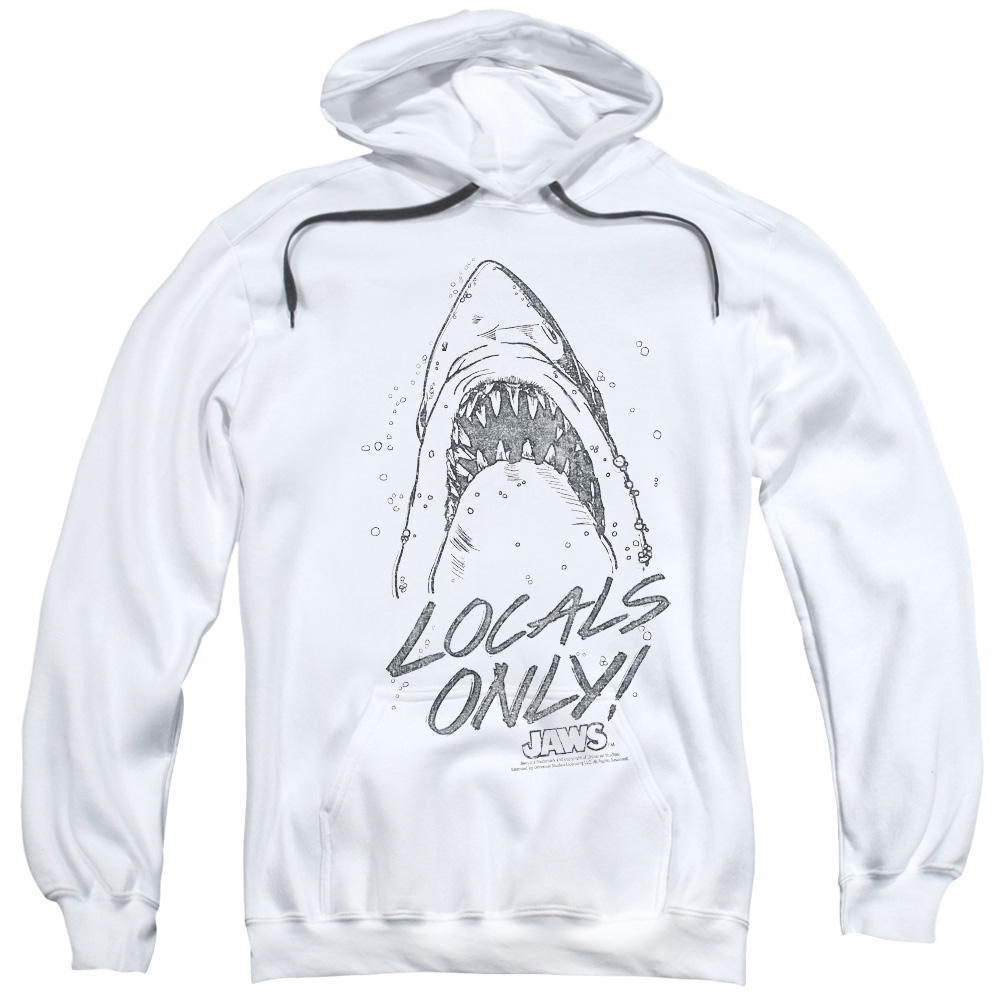 Trevco Mens Jaws Locals Only Adult T-Shirt