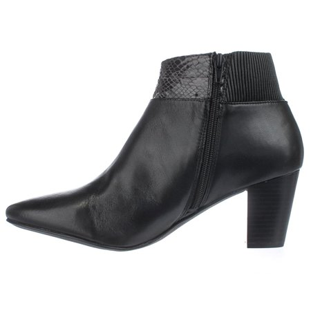Womens Palessa Leather Almond Toe Ankle Fashion Boots
