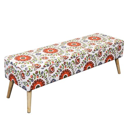 Otto Ben Easy Lift Top Upholstered Ottoman Storage Bench Multiple