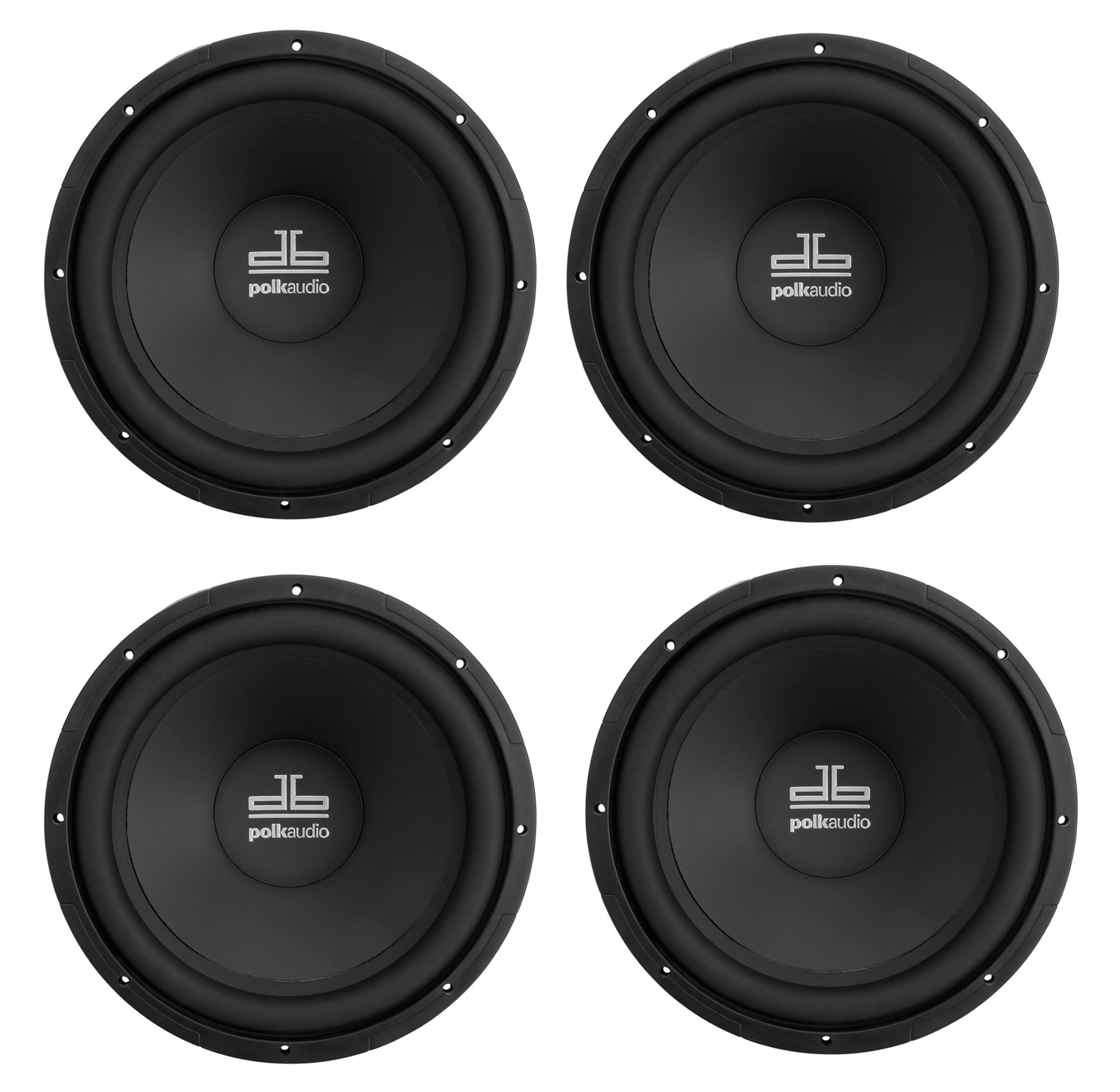 "4) NEW POLK AUDIO DB1240 12"" 2880W SVC Car Marine 12 Inch Subwoofers Boat Subs"