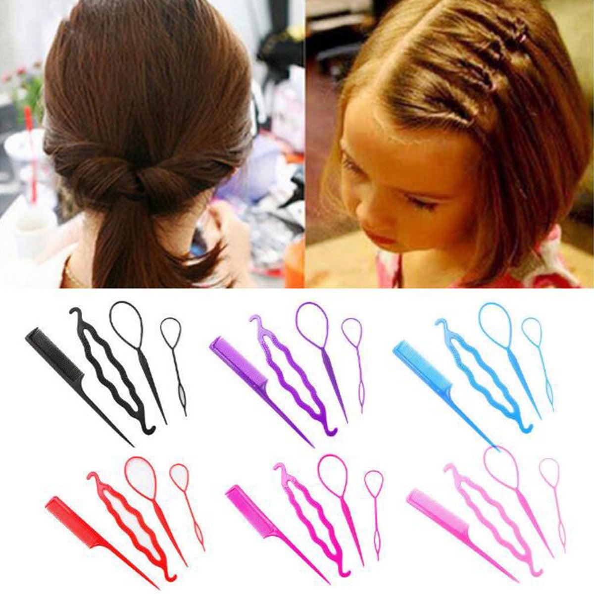 Women Hair Braid Clip Magic Styling Stick Bun Maker Tool Fashion Accessories