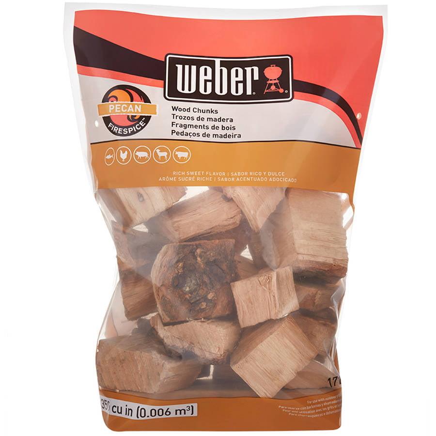 Weber Pecan Wood Chunks, 350 Cu. In. bag