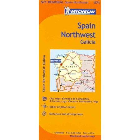 Michelin Map Spain Northwest Galicia