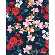"""Floral Dotted Notebook For Drawing & Note Taking, Beautiful cover: Large A4 (8.5"""" x 11""""), 100 Pages (Paperback)"""