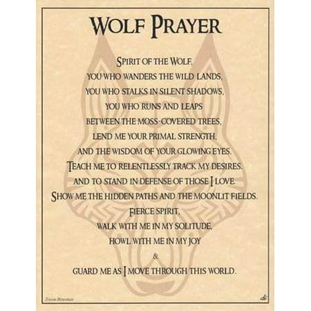 Wolf Prayer Poster 8 1/2 x 11, 8 1/2