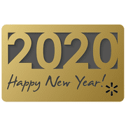 New Year 2020 Gold Walmart eGift Card