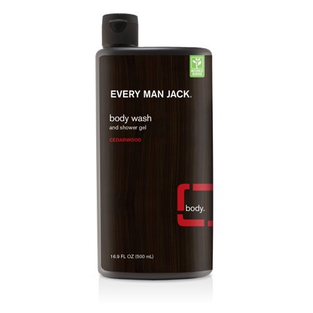 Shower Gel Wash (Every Man Jack Body Wash and Shower Gel Cedarwood, 16.9fl)