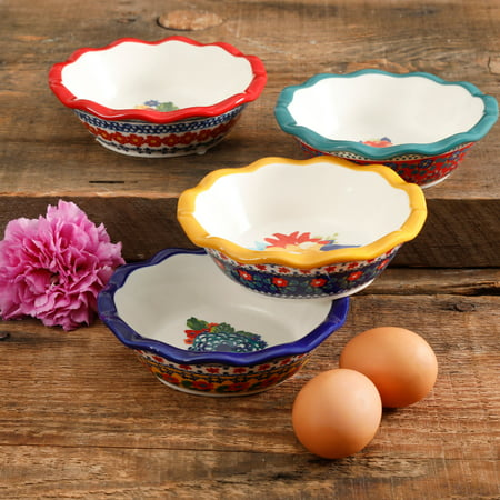 The Pioneer Woman Floral 5.5-Inch Scalloped Mini Pie Pans, Set of 4