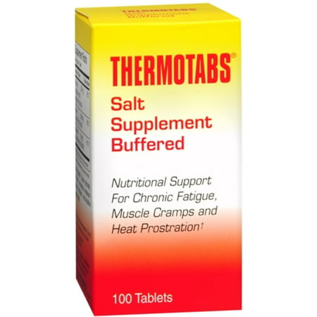 THERMOTABS Salt Supplement Buffered Tablets 100 Tablets Cell Salts 1000 Tablets