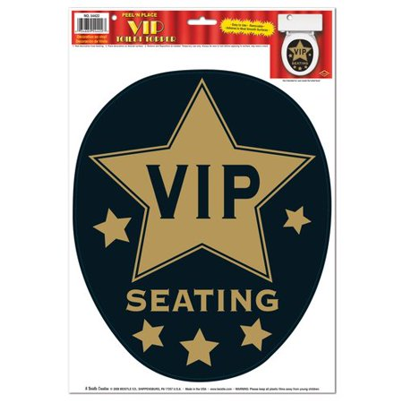 The Beistle Company Awards Night VIP Toilet Topper Peel 'N Place Toilet Seat Decal (Toilet Toppers)