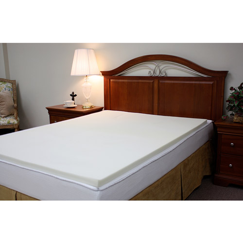 "Purest 1.5"" Memory Foam Slab Mattress Topper, Multiple Sizes"