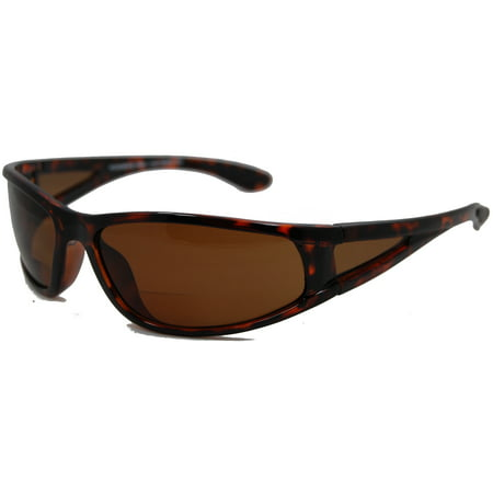 In Style Eyes  Del Mar Polarized Wrap Nearly Invisible Line Bifocal Sunglass Readers