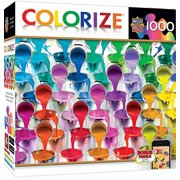 MasterPieces Colorize Coming Down Buckets - Paint Buckets 1000 Piece Jigsaw Puzzle