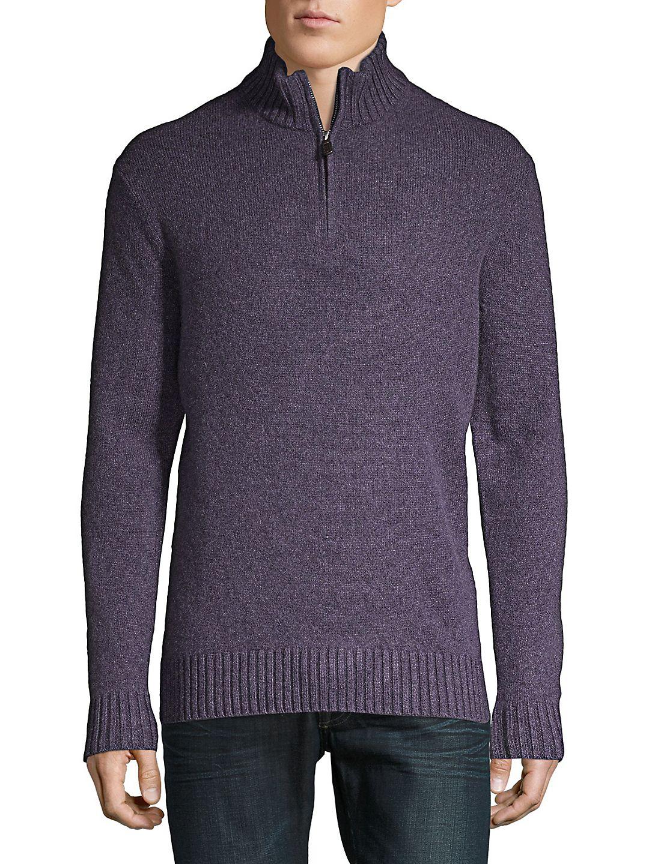 Quarter-Zip Lambswool Sweater